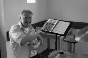 Bob van Eekhout, drummer en manager van Jazz Trio Jazztraffic