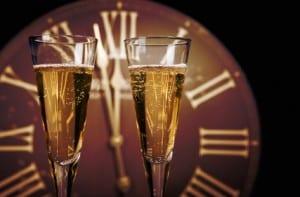 Champagne voor Nieuwjaarsreceptie