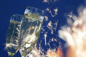 Champagne bij Nieuwjaarsborrel